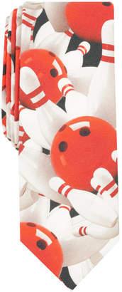 Original Penguin Men's Bowling Collage Skinny Tie