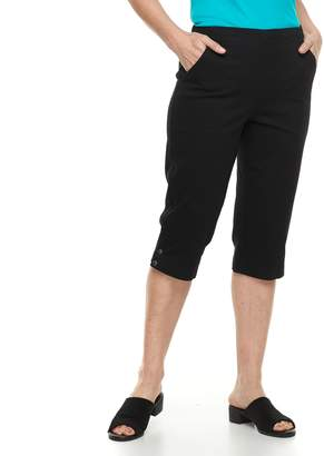 Croft & Barrow Women's Pull-on Snap Hem Skimmer Capris