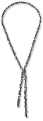 Margo Morrison Pyrite Cluster Lariat Necklace