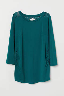 H&M MAMA Top with Lace - Turquoise