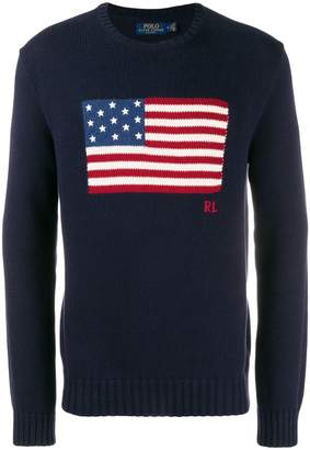 Polo Ralph Lauren flag knitted jumper