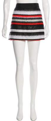 Milly Stripe Mini Skirt