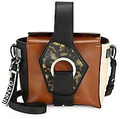 Ganni Women's Colorblock Square Leather Shoulder Bag