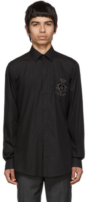Dolce & Gabbana Black Embroidered Martini Shirt