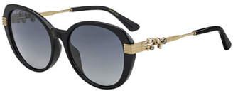 Jimmy Choo Orly Square Crystal-Trim Sunglasses