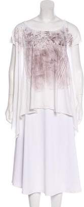 AllSaints Printed Jersey Top