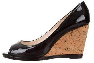 Prada Sport Patent Leather Wedge Pumps
