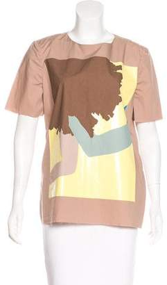 Marni Printed Crew Neck Top