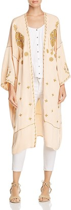 Free People Pretty Darn Cute Embroidered Kimono Jacket $128 thestylecure.com