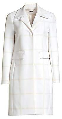 Elie Tahari Women's Orla Windowpane Check Coat