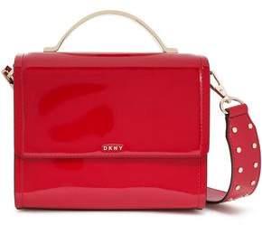 DKNY Faux Patent-leather Shoulder Bag