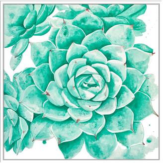 Jonathan Bass Studio Desert Floral, Decorative Framed Hand Embellished Canvas