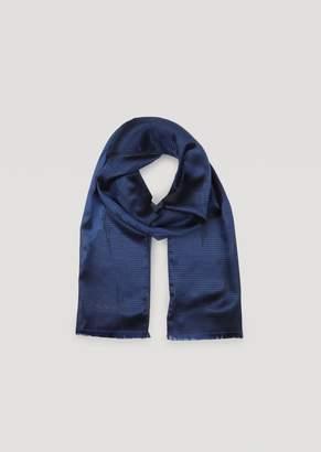 Emporio Armani Silk Blend Scarf With Jacquard Logo
