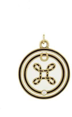 Foundrae Medium Enamel True Lovers Knot Medallion
