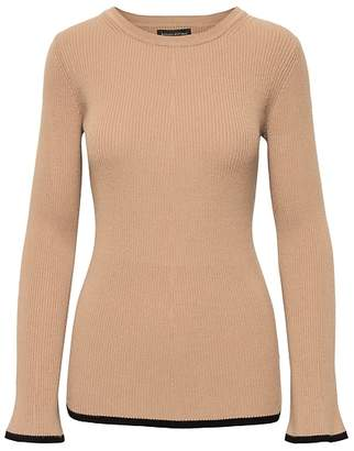 Banana Republic Rib-Knit Flared-Sleeve Sweater Top
