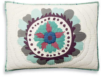 Martha Stewart Collection Mystical Suzani Quilted Standard Sham, Created for Macy's