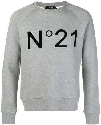 No.21 logo print sweater