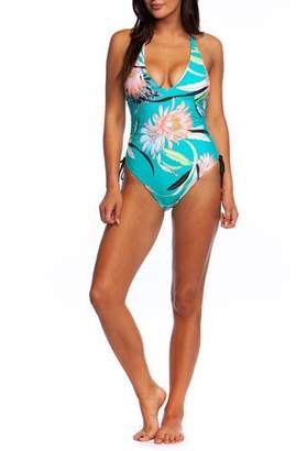 36442d9aaf181 Trina Turk Shangri La Floral Side-Tie One-Piece Swimsuit