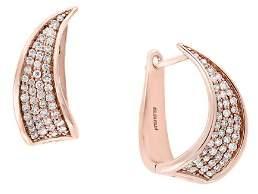 Bloomingdale's Pavé Diamond Huggie Earrings in 14K Rose Gold, 0.40 ct. t.w. - 100% Exclusive
