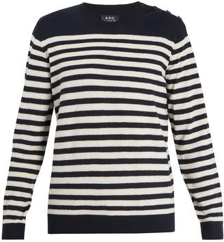 A.P.C. Skye striped wool sweater
