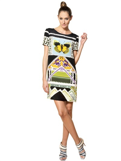Mary Katrantzou Printed Silk Crepe De Chine Dress
