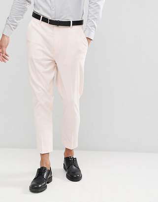 Asos DESIGN wedding tapered suit pants in dusky pink