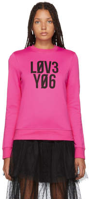 RED Valentino Pink Love You Sweater