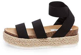 ceed7ffdbdd Steve Madden Black Platform Heel Sandals For Women - ShopStyle UK