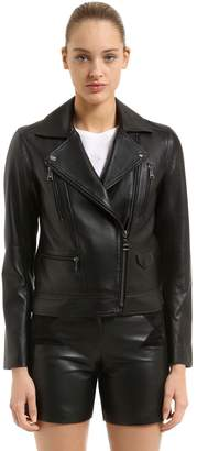 Karl Lagerfeld Nappa Leather Biker Jacket