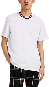 Marni Men's Dance-Bunny-Patch Striped-Crewneck Cotton T-Shirt - White