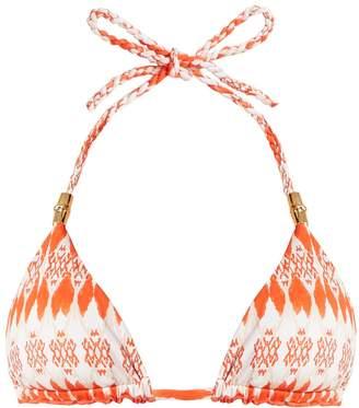 Heidi Klein Punta del Este reversible triangle-cup bikini top