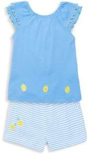 Florence Eiseman Little Girl's Two-Piece Pineapple Tee & Shorts Set