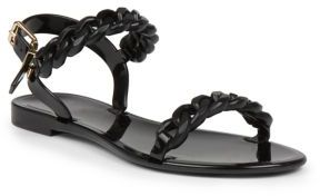 Givenchy Nea Jelly Flat Sandals $295 thestylecure.com