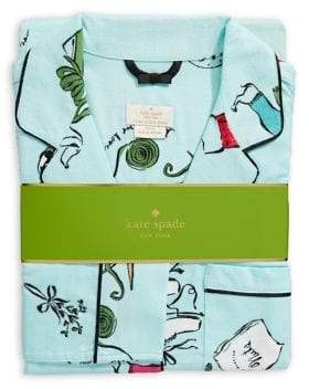 Kate Spade Two-Piece Long-Sleeved Printed Pyjama Set