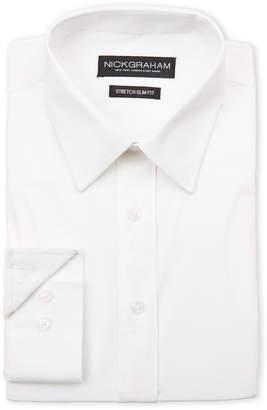 Nick Graham White Stretch Slim Fit Dress Shirt