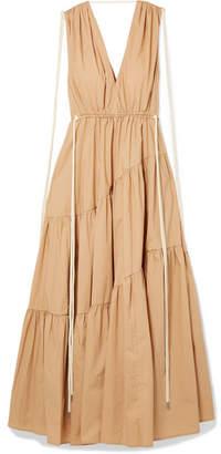 BEIGE Lee Mathews - Tiggy Tiered Cotton-poplin Maxi Dress