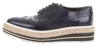 Prada Leather Platform Oxfords