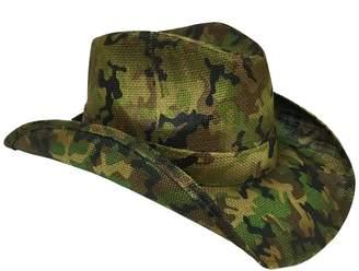 Peter Grimm Ltd Men's Scout Camo Print Straw Cowboy Hat
