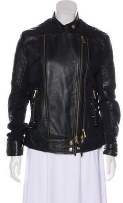Just Cavalli Studded Leather Jacket