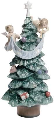 Lladro Evergreen Of Peace Tree Figurine