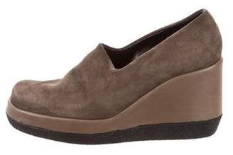 Robert Clergerie Suede Platform Wedges