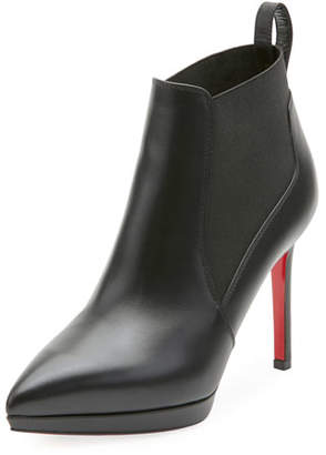Christian Louboutin Crochinetta Platform Red Sole Bootie