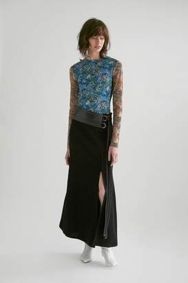 Yigal Azrouel Floral Mesh Tee