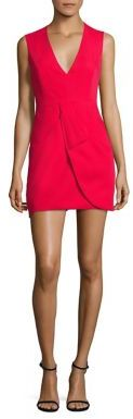 BCBGMAXAZRIA Clare Sleeveless Draped Dress $298 thestylecure.com
