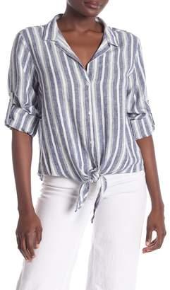 Velvet Heart Linen Blend Button Front Shirt