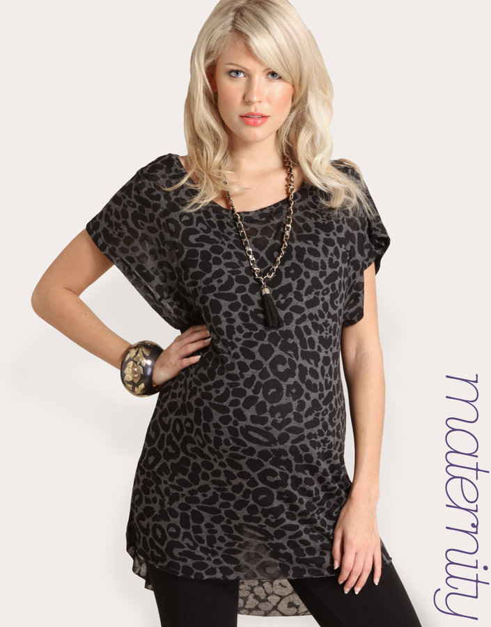 ASOS MATERNITY Leopard Printed Top