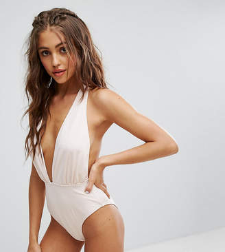 Wolfwhistle Wolf & Whistle Plunge Slinky Swimsuit