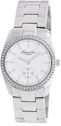 Kenneth Cole Women's Quartz Watch with Dial Analogue Display and Silver Stainless Steel Bracelet KC4722