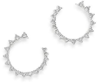 Bloomingdale's Diamond Front-to-Back Hoop Earrings in 14K White Gold, 1.0 ct. t.w. - 100% Exclusive