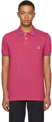 Paul Smith Pink Slim Fit Striped Polo